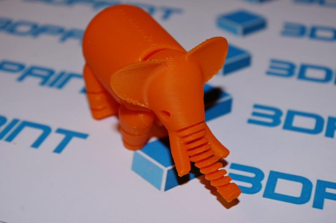 3д печать оранжевым ABS пластиком