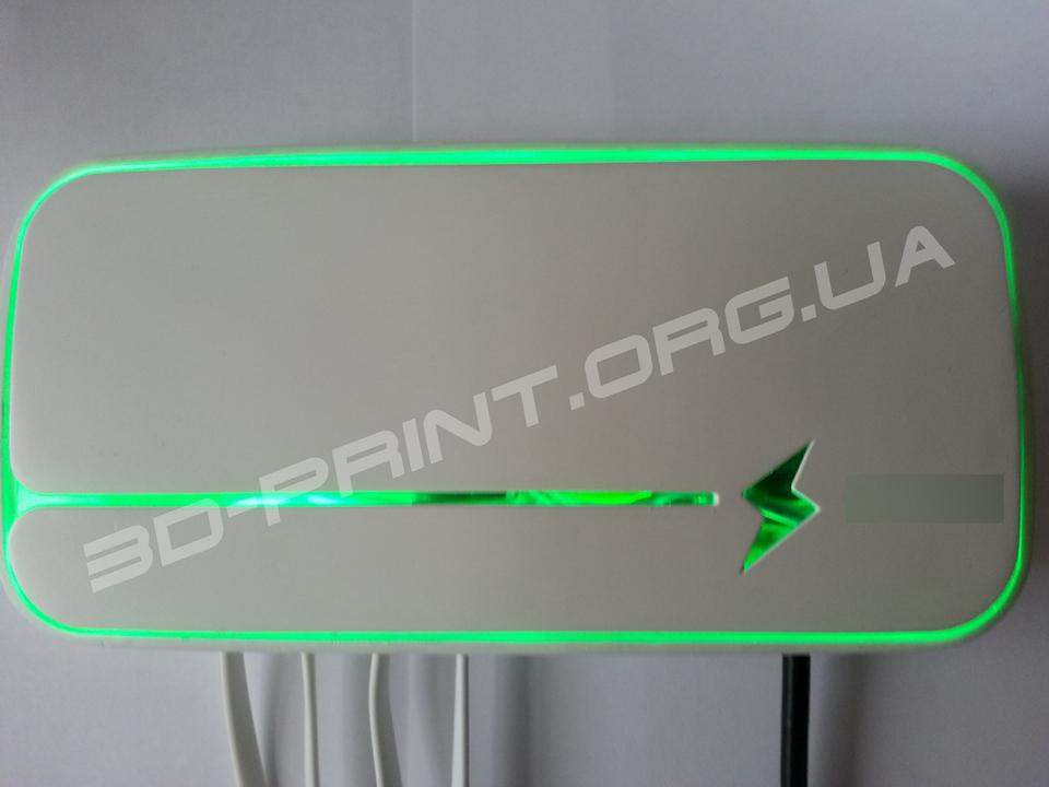 Прототип зарядного устройства, изготовленный на 3д принтере.